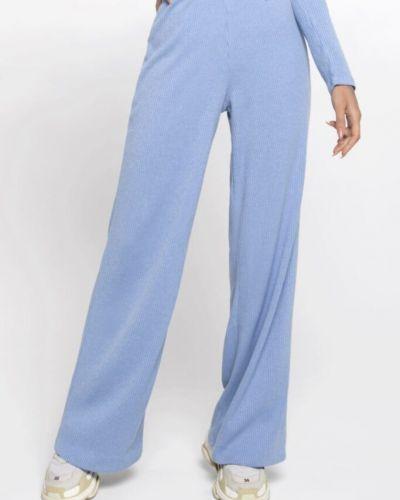 Расклешенные синие с завышенной талией спортивные брюки Designed For Fitness