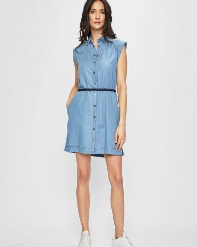 Джинсовое платье мини с поясом Pepe Jeans