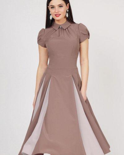 Вечернее платье бежевое Grey Cat