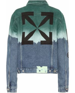 Ватная хлопковая классическая синяя джинсовая куртка Off-white