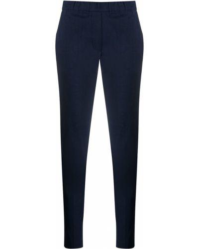 Синие брюки с поясом узкого кроя D.exterior