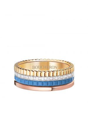 Niebieski złoty pierścionek z diamentem Boucheron