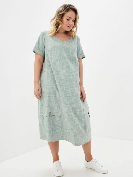 Повседневное платье зеленый весеннее Intikoma