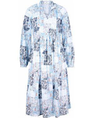 Платье миди с рукавами с длинными рукавами Bonprix