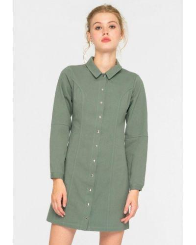 Зеленое платье-рубашка Shtoyko