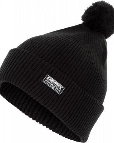 Вязаная шапка черная спортивный Demix