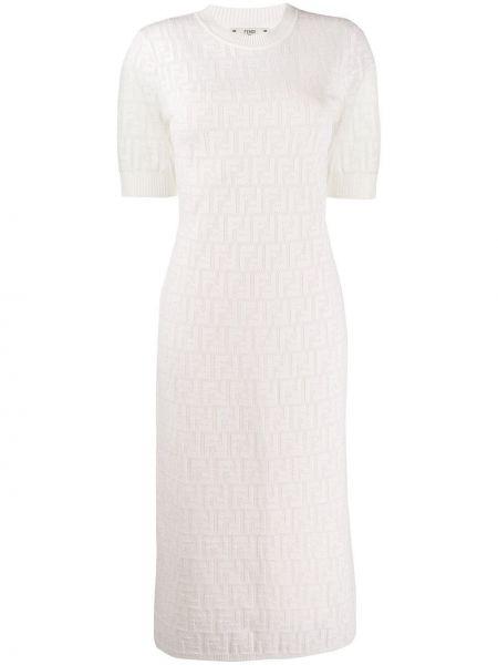 Платье мини облегающее в рубчик Fendi