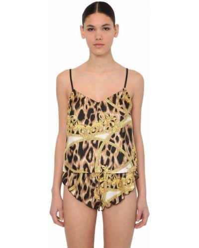 Пижама атласная шелковая Versace