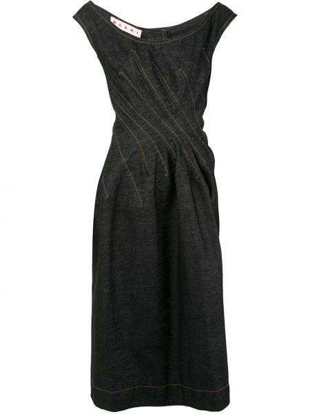 Платье миди джинсовое на пуговицах Marni