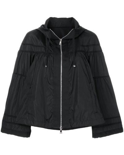 Куртка с капюшоном длинная укороченная свободная Moncler