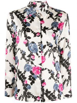Белая шелковая классическая рубашка с воротником на пуговицах La Doublej
