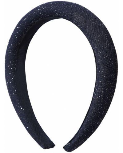 Niebieski opaska na głowę z tiulu Il Gufo