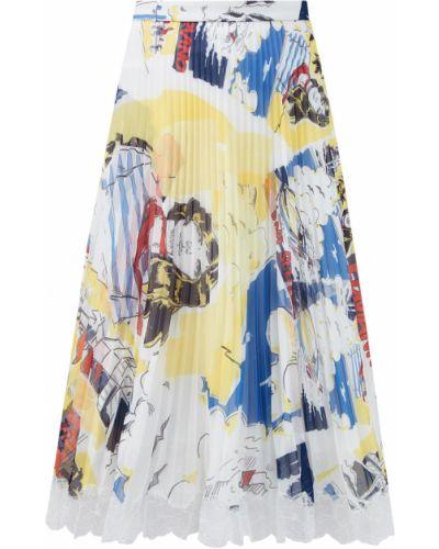Деловая юбка миди с поясом свободного кроя с сеткой Ermanno Scervino