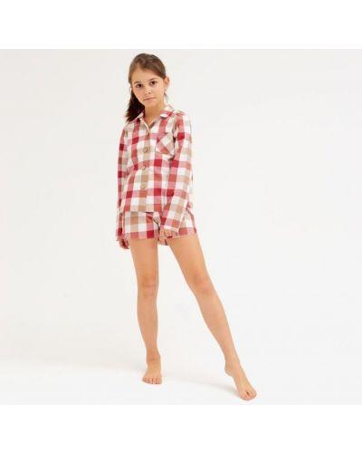 Домашняя красная рубашка Minaku