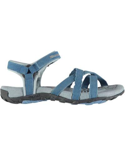 Sandały skorzane na rzepy w paski Karrimor