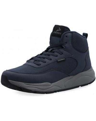 Высокие кроссовки утепленные - синие Demix