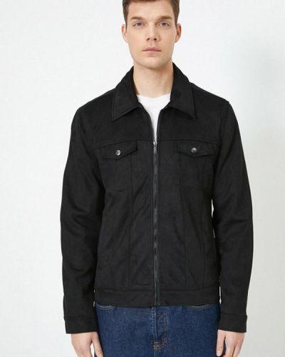 Облегченная черная куртка Koton