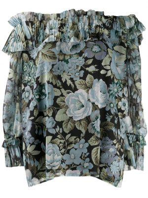 С рукавами блузка с открытыми плечами со вставками P.a.r.o.s.h.