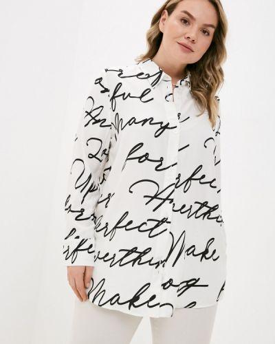 Белая блузка с короткими рукавами Ulla Popken
