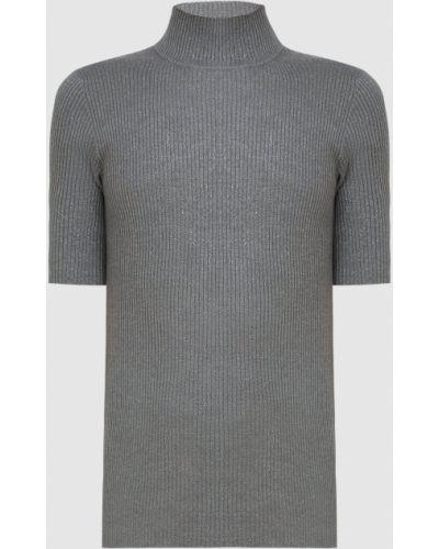 Серый свитер с люрексом Brunello Cucinelli