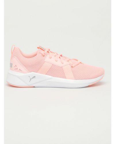 Różowe sneakersy sznurowane Puma