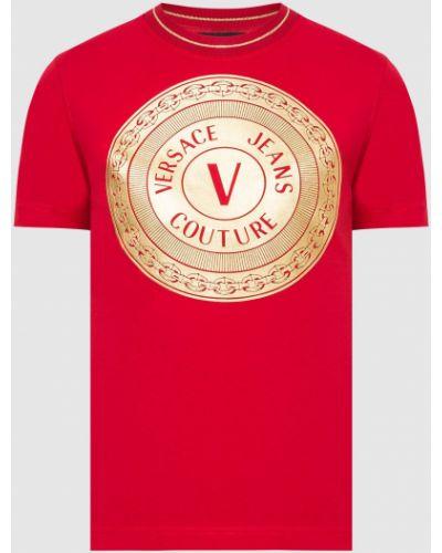 Красная футболка Versace Jeans Couture