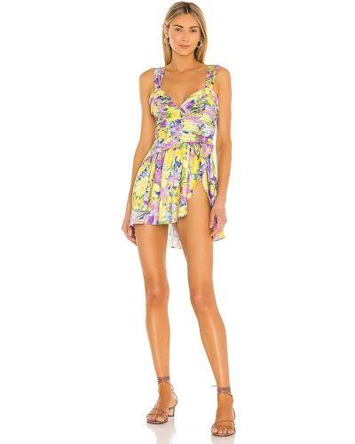 Платье мини атласное For Love & Lemons
