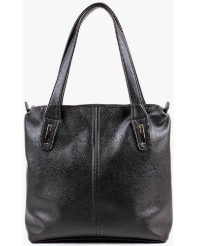 Кожаный сумка шоппер черный медведково