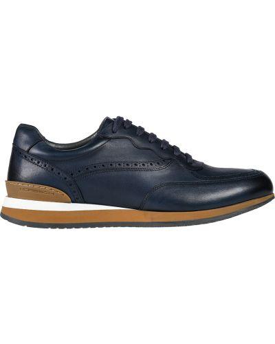Кожаные кроссовки - синие Moreschi