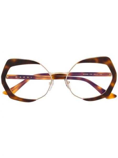 Желтые очки металлические Marni Eyewear