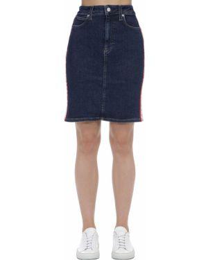 Юбка мини джинсовая с завышенной талией Calvin Klein Jeans