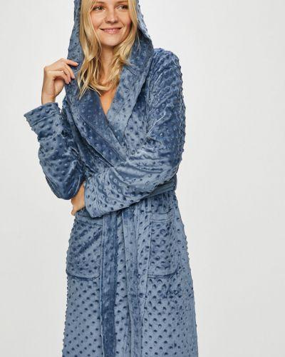 Синий халат с капюшоном Henderson Ladies