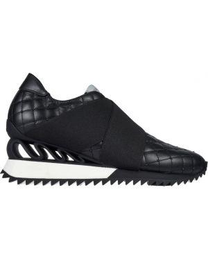 Черные кроссовки на платформе Le Silla