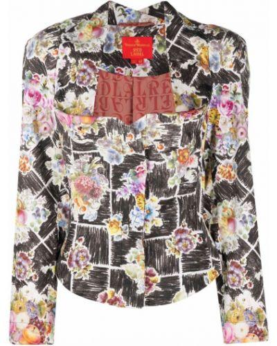 Черный пиджак в цветочный принт Vivienne Westwood Pre-owned
