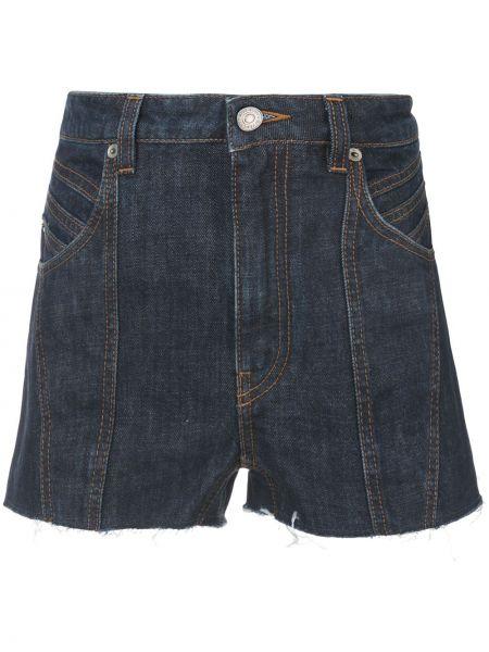 Джинсовые шорты с карманами со стразами на пуговицах Givenchy