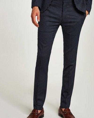 Синие зауженные брюки Topman
