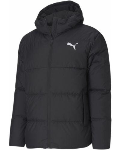 Брендовая черная пуховая спортивная куртка Puma