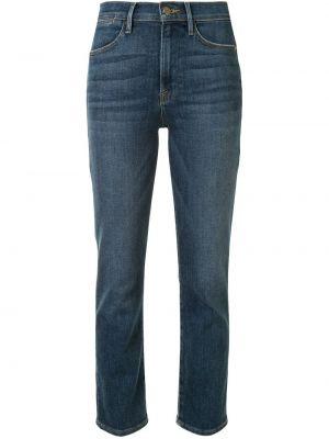 Синие укороченные джинсы с карманами с камнями в стиле бохо Frame