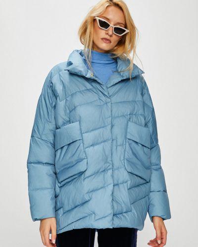Утепленная куртка в полоску из полиэстера Silvian Heach