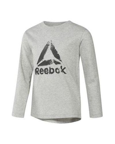 T-shirt bawełniana - szara Reebok