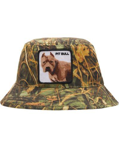 Zielona czapka z haftem Goorin Bros