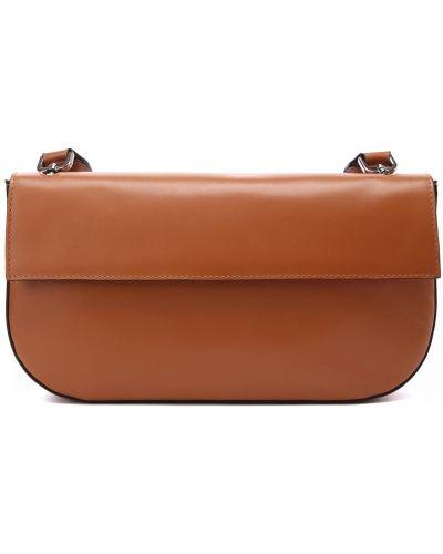 Кожаная коричневая сумка Doria Maria