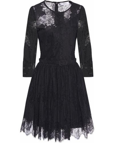 Кружевное платье мини - черное Carven
