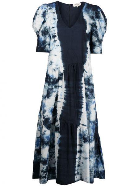 Платье мини короткое - синее Sea