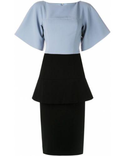 Платье мини футляр с баской Christian Siriano