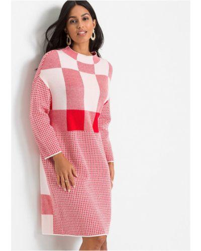 Вязаное платье макси - белое Bonprix
