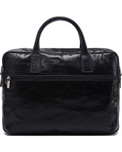 Синяя кожаная сумка Fabi