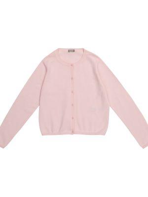 Różowy kardigan bawełniany Il Gufo