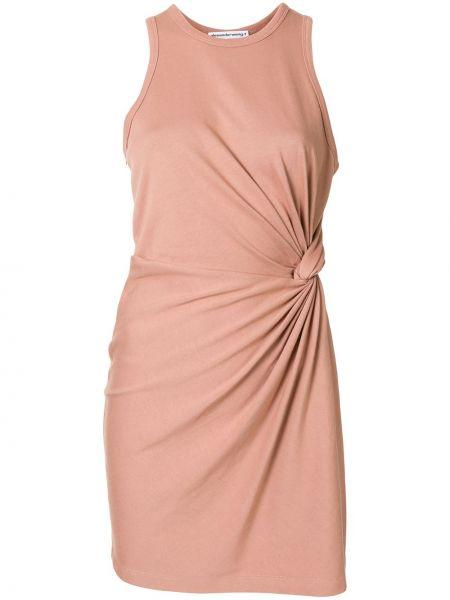 Bawełna prosto różowy sukienka mini bez rękawów Alexander Wang