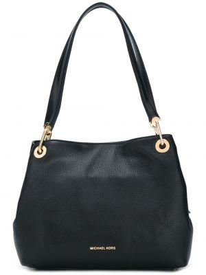 Кожаная черная кожаная сумка Michael Michael Kors